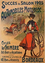 Automobiles Motobloc Vintage Poster France c. 1904 60191 (16x24 SIGNED Print Master Art Print - Wall Decor Poster)