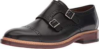 Bostonian Women's Somerville Mix Monk-Strap Loafer, Black Leather