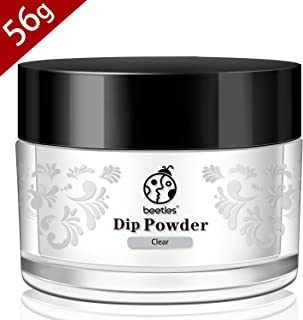 Beetles Dip Powder Clear Nail Dipping Powder for French Nail Manicure Nail Art, Without UV LED Lamp Cured, Long Lasting, 56g (2 oz)