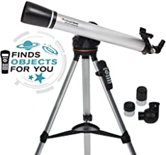Celestron - 80LCM Computerized Refractor Telescope - Telescopes for Beginners - 2 Eyepieces - Full-Height Tripod - Motorized Altazimuth Mount - Large 80mm Refractor Reflector