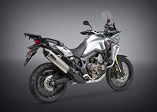 Yoshimura 16-18 Honda CRF1000L RS-4 Slip-On Exhaust (Street/Stainless Steel with Carbon Fiber End Cap/Works Finish)