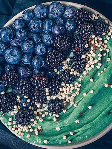 5D DIY bordado de diamantes Kit de artesanía de frutas pintura de diamantes paisaje de comida pintura decorativa de diamantes de imitación A1 45x60cm