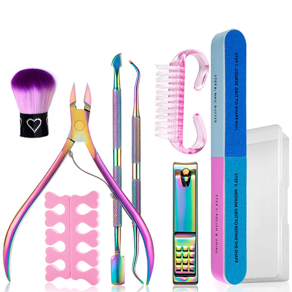 8PCS Manicure Set Nail Limited time for free shipping Clippers Cuticle Kit Max 68% OFF Trimmer Pedicure S