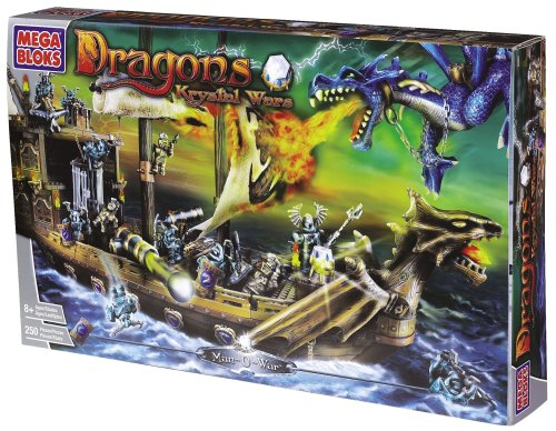 Mega Bloks Dragons Krystal Wars 9895–Hombre Buque de Guerra 250pc