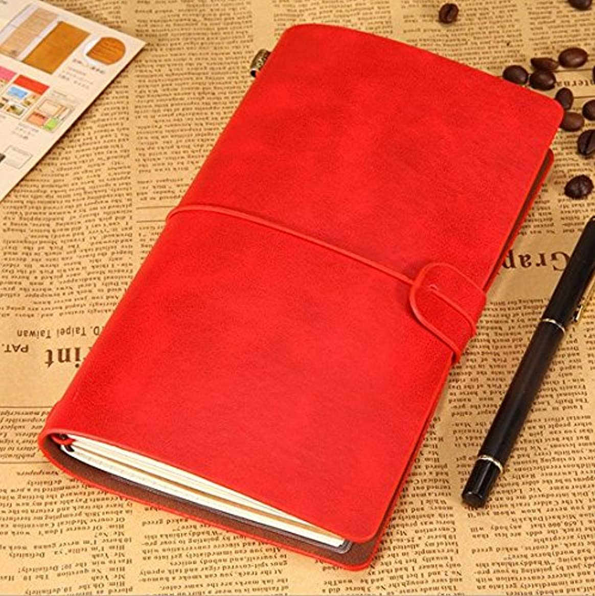 を必要としています間接的一時的Zaoneレザージャーナルビンテージハンドメイド詰め替え可能Traveler 's Writingノートブックメモ帳Daily Great Gift forメンズレディース学生アートSketchbook、旅行日記