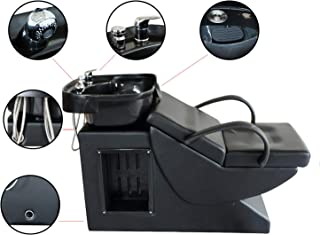 Walcut Shampoo Barber Chair Backwash Unit Station with ABS Plastic Sink Bowl for Spa Beauty Salon