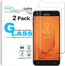 KATIN Galaxy J7 Prime 2 Screen Protector - [2-Pack] Tempered Glass for Samsung Galaxy (J7 Prime 2) Screen Protector Bubble Free, Easy to Install with Lifetime Replacement Warranty