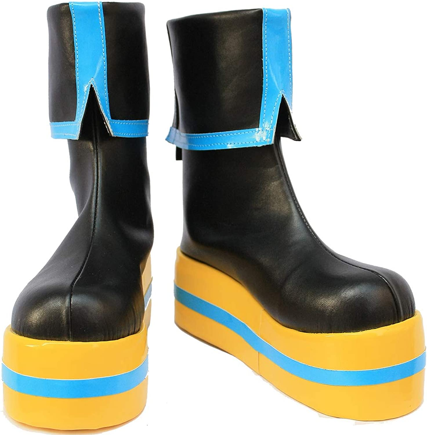 Cosplay Boots shoes for Vocaloid Project Diva Hatsune Miku bluee