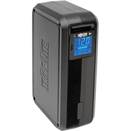 Tripp Lite SMART1000LCDTAA 1000VA 500W UPS Smart Tower LCD AVR 120V USB Coax RJ45 TAA GSA, 8 Outlets