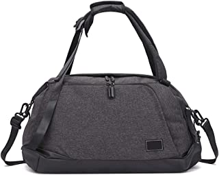 Arder Men's Backpack Portable Short-Distance Travel Bag Large-Capacity Luggage Bag Sports Fitness Bag Male Relaxed (Color : Gray)