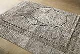Homie Living I Moderner Kurzflor Designer Teppich in pflegeleichter Holzoptik I Black Forest (80 x 150 cm, Beige Braun Schwarz) - 6