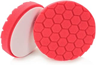 Chemical Guys BUFX_107HEX5 BUFX_107_HEX5 Hex-Logic Ultra Light Finishing Pad, Red (5.5 Inch)