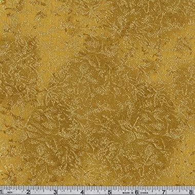 Michael Miller Fairy Frost Metallic, Gold, Quilt Fabric by the Yard