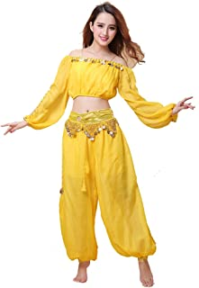 yellow belly dance costume