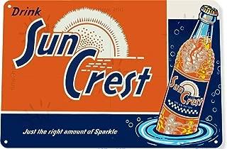 heigudan Sun Crest Soda Soda Metal Sign Poster Plaque Wall Home Decor Prompt Card