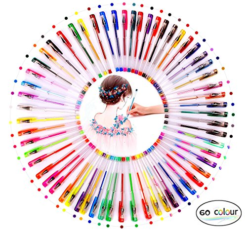 ihreesy 60 Gel Pen Set with Case Ideal for Children and Adults Scrapbooking Coloring Doodling Sketching and Art Markers