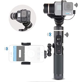 FeiyuTech FY Feiyu G6 3-Axis Splash Proof Handheld Gimbal Updated Version of G5 for GoPro Hero 8//7//6//5//4//3 Yi Cam 4K AEE Action Cameras of Similar Size with EACHSHOT Mini Tripod