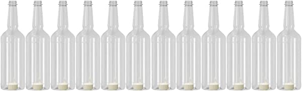 Concession Express Long Neck 32oz Quart Bottles With Flip Top Caps