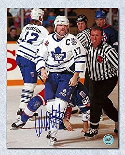 Wendel Clark Toronto Maple Leafs Autographed Fight Champion 11x14 Photo - Signed Hockey Pictures