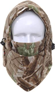 Winter Face and Neck Warmers Fleece Camouflage Cap Balaclava Trekking Riding Ski Hunting Hat Wind-Proof Mask