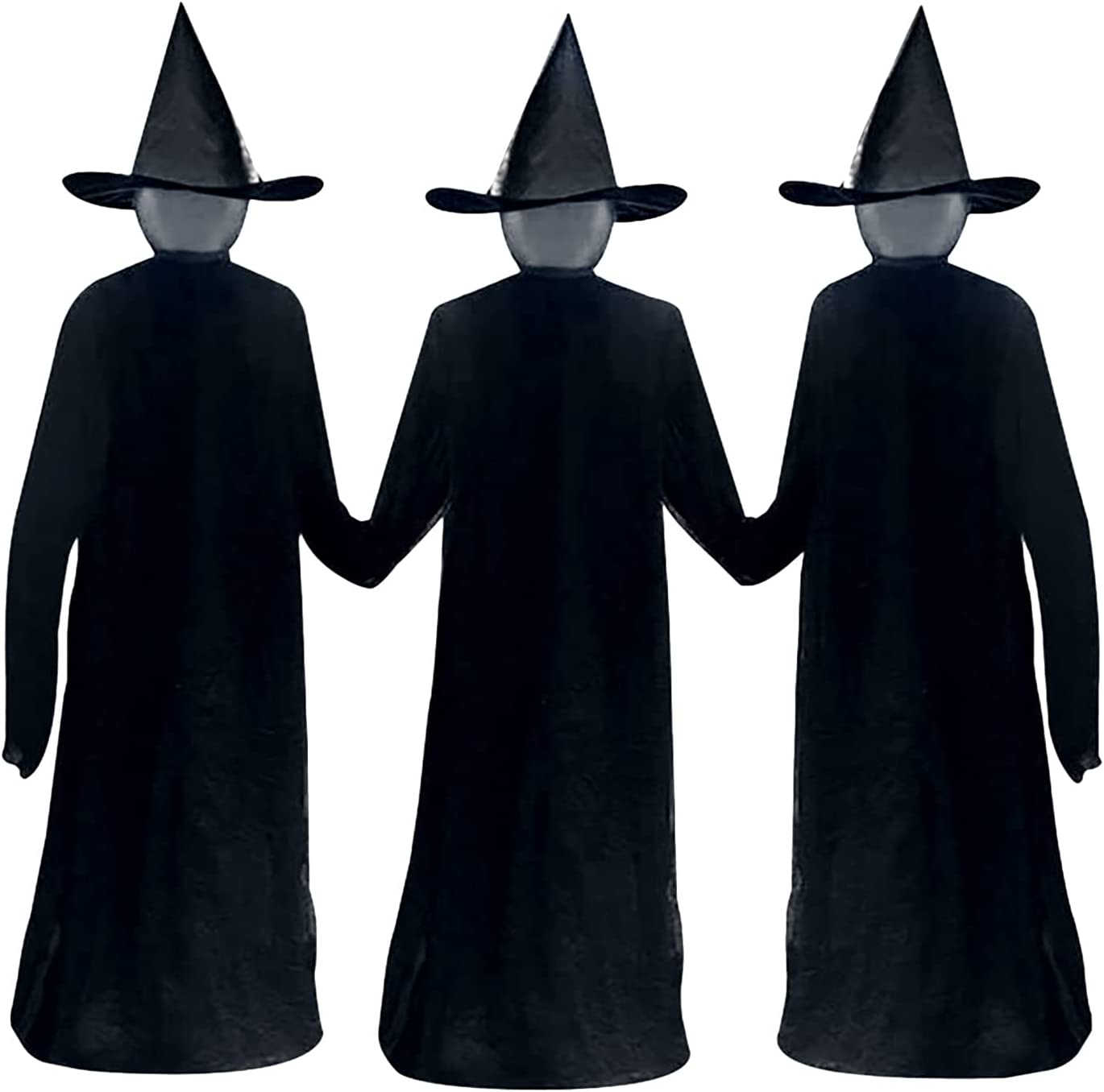 Great interest Halloween Holding Hands Witches Glowing Light-UP Mesa Mall Witch Sta with