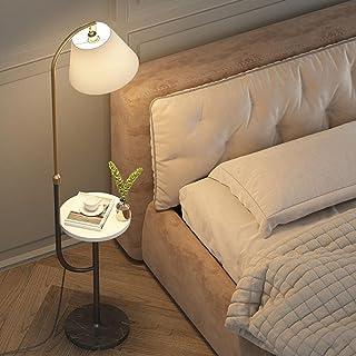Lampadaire de charge sans fil créatif avec plateau en bois massif Salon moderne Chambre à coucher Canapé Décor intérieur L...