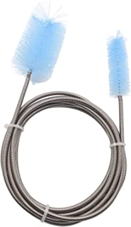 LAOMA Aquarium Cleaning Drain Brush Double End Bristle Hose Cleaner Glass Pipe Cleaning Brush Fish Tank or Home Kitchen 15 to 35 mm Pipe