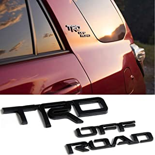 JZWDMD for Toyota TRD Off Road High Lander Land Cruiser RAV4 4Runner Prado Chr Tundra Yaris Abs Rear Sticker Emblem Exterior Decoration