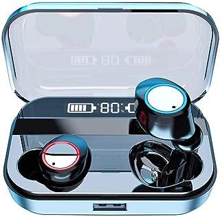 【令和モデル第2世代 LEDディスプレイ 】Bluetooth イヤホン IPX7防水 ワイヤレス イヤホン LEDディスプレイ電量表示 Hi-Fi高音質 AAC対応 最新bluetooth 5.0+EDR搭載 AAC対応 CVC8.0ノイズキャンセリング ブルートゥース イヤホン マイク付き ハンズフリー通話 自動ペアリング 音量調節 両耳通話 Siri対応 PSE&技適認証済 iPhone/ipad/Android対応