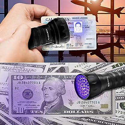 Vansky UV Torch 21 LEDs, UV Flashlight Black Light for Pet Urine Detection, Blacklight Detector for Dog Urine, Pet Stains, Bed Bug on Carpet/Rugs【3 x AAA Batteries Included】 3