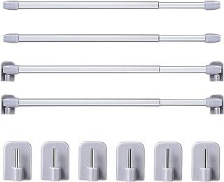 Voir image Mokia Tringle /à rideau 30-50cm barre de tension extensible sans per/çage tige r/églable pour salle de bain//douche Pas de z/éro