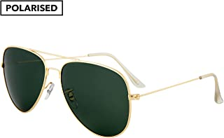 Winstonne Kenzo Men's Aviator Polarized Sunglasses - WNPO1004 60-14-135mm