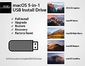 macOS 5-in-1 Bootable USB Install Drive - 10.15 Catalina, 10.14 Mojave, 10.13 High Sierra, 10.12 Sierra, 10.11 El Capitan - Full Install, Upgrade, Recovery, Repair