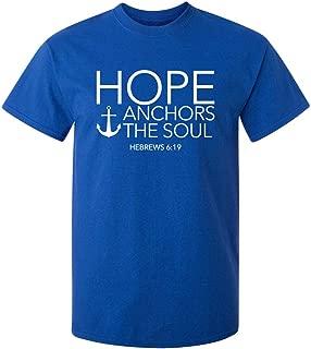 Hope Anchors The Soul Religious God Prayer Funny T Shirt