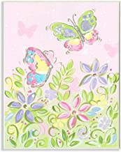 Stupell Home Décor Pink Pastel Butterflies and Dragonfly Wall Plaque Trio, 11 x 15, Multi-Color