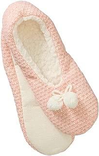 No Boundaries Women's Marled Seed Stitch Knit Pull-on Slipper Socks