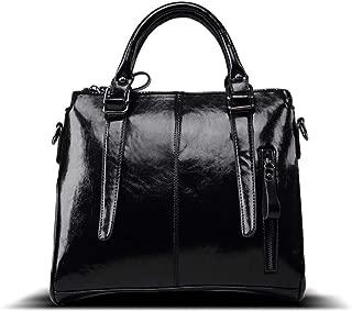 Women Full Grain Leather Tote Bags Top Handle Satchel Handbags Shoulder Purse