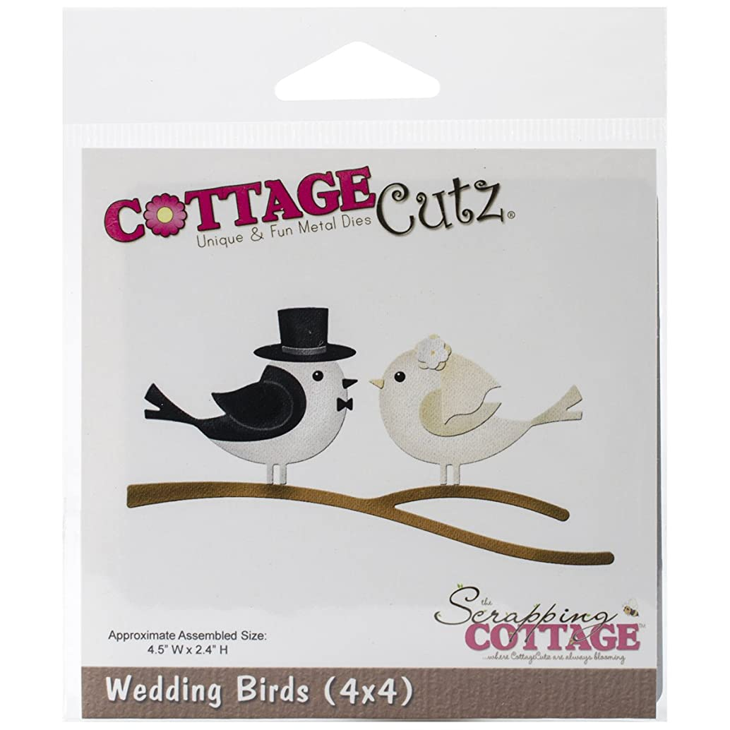 CottageCutz Die Cuts, 4 by 4-Inch, Wedding Birds