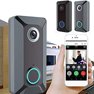 Mopoq V6 - Wireless Intercom Kit With WiFi And Smart Doorbell, Plastic, Black, One Size (Color : Black)