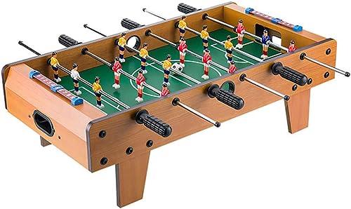 WHTBOX  -Foot Table de  foot,Jeu,CompéTition,Arcade,Sports Fun,Indoor,Pub,Room,Convient Aux Personnes de Plus de 3 Ans,marron-L