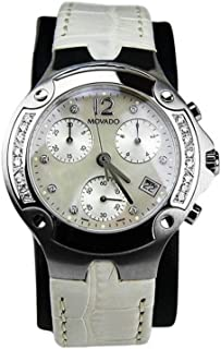 Swiss Diamond Chronograph Quartz Watch 84c51892 Alligator 6.25