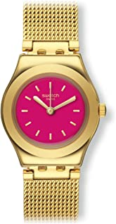 Swatch TWIN PINK Irony Lady YSG142M Gold tone Watch