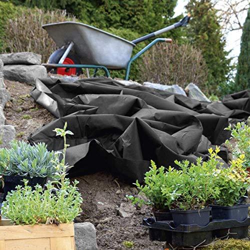 QDTD Weed jardín Tela de Control 100 g/m², Individualmente Cortadas, en Particular rasgar-Resistente, Resistente a la Intemperie, Transpirable y Opaco (Size : 1m*10m)