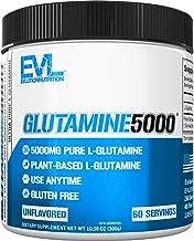 Evlution Nutrition L-Glutamine 5000, 5g Pure L Glutamine in Each Serving, Plant Based, Vegan, Gluten-Free, Unflavored Powd...