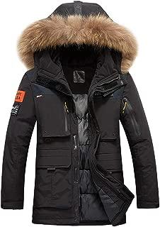 Mens Parka Jacket Down Coat Thicken Windbreaker Winter Overcoat Zip Hoodie