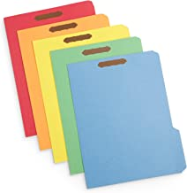 50 Fastener File Folders, 1/3 Cut Reinforced Tab, Durable 2 Prongs Designed to Organize Standard Medical Files, Law Client Files, or Office Reports, Letter Size, Assorted Colors, 50 Pack