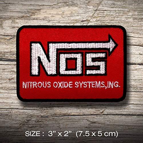 NOS Nitrous Oxide Systems T Racing Drift Drag Aufnäher Besticktes Patch zum Aufbügeln Applique