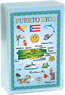 Rockin Gear Playing Cards Puerto Rico Map Collectible Souvenir Index Playing Cards