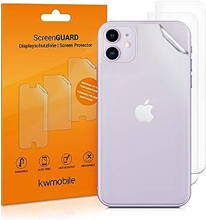 kwmobile 3x Pellicola protettiva posteriore compatibile con Apple iPhone 11- Protezione retro smartphone - Qualità premium