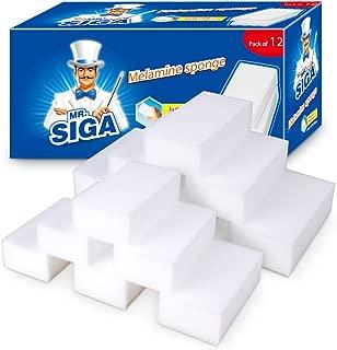 MR. SIGA - Esponja de melamina, 12 x 6 x 3 cm, 12 Unidades